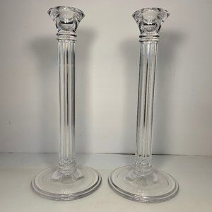"""Tiffany & Co Column 10"""" Candle Stick Holders"""